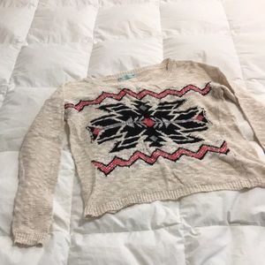 Aztec print light weight sweater